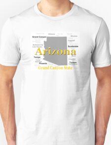 Arizona State Pride Map Silhouette  T-Shirt