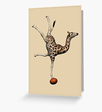 Balancing Giraffe Greeting Card