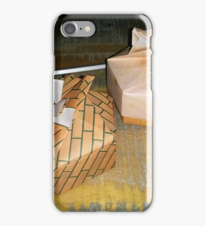 Origami and hexagonal boxes iPhone Case/Skin