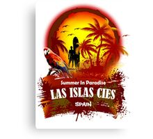 La Islas Cies Summer Time Canvas Print