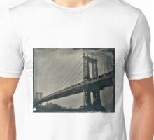 Manhattan Bridge 4x5 wet plate collodion tintype Unisex T-Shirt