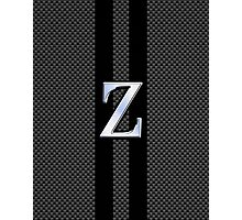 Zeta Greek Letter Symbol Chrome Carbon Style Photographic Print