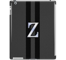 Zeta Greek Letter Symbol Chrome Carbon Style iPad Case/Skin