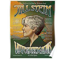 Jill Stein - Vote Green 2016 Poster