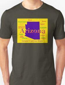 Colorful Arizona State Pride Map Silhouette  T-Shirt
