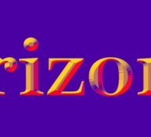 Colorful Arizona State Pride Map Silhouette  Sticker