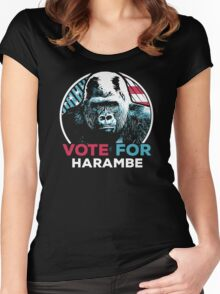 Vote for Harambe Women's Fitted Scoop T-Shirt