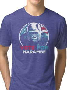 Vote for Harambe Tri-blend T-Shirt