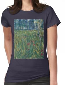 Vincent Van Gogh - Woman In  Garden, 1887 Womens Fitted T-Shirt