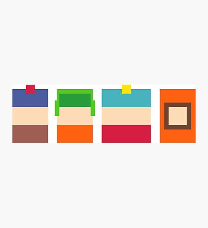 South Park 8-Bit Pixels Design Photographic Print