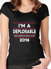 I'M A DEPLORABLE 2016 T-SHIRT Women's Fitted Scoop T-Shirt