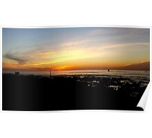 Mouille Point Sunset Poster