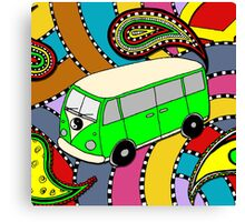 Yin Yang Bus - green Canvas Print