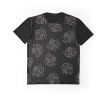 Colourfull polygons on black background Graphic T-Shirt