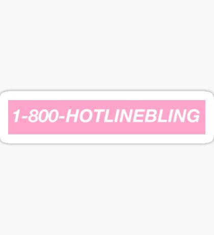 Hotline Bling single line Sticker