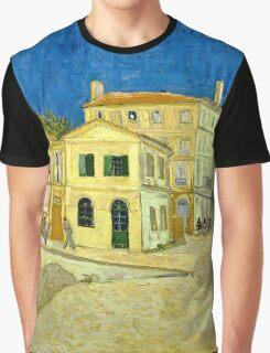 Vincent Van Gogh -  Yellow House, ` Street, September 1888 - 1888  Graphic T-Shirt