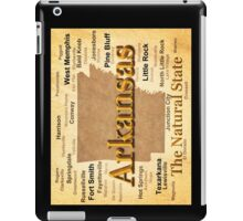 Aged Arkansas State Pride Map Silhouette  iPad Case/Skin