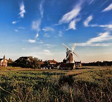 Cley windmill cley next the sea by Avril Harris