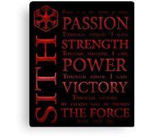 Sith Code Canvas Print