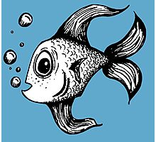 Fish Blowing Bubbles Photographic Print