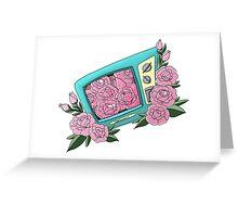 Rosy Retro TV Greeting Card