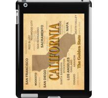 antique California State Pride Map  iPad Case/Skin