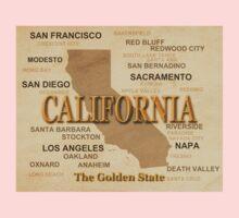 antique California State Pride Map  Kids Clothes