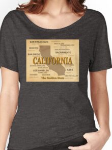 antique California State Pride Map  Women's Relaxed Fit T-Shirt