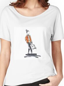 Sketch of woman  Women's Relaxed Fit T-Shirt
