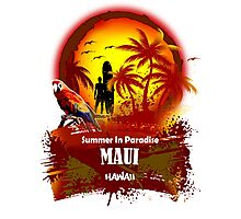 The Best Maui Surfer Spirit Photographic Print