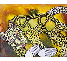 Golden Leopard Photographic Print