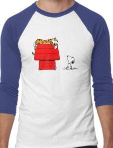 SNOOPY VS HOBBES Men's Baseball ¾ T-Shirt