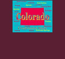 Colorful Colorado State Pride Map Silhouette  Unisex T-Shirt
