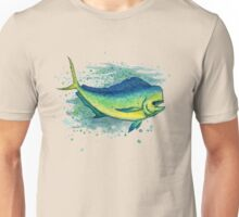 Mahi Mahi Splash ~ Watercolor Unisex T-Shirt