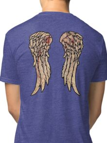 Daryl Dixon, The walking dead inspired biker wings. Tri-blend T-Shirt
