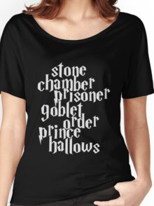 Stone Chamber Prisoner Goblet Order Prince Hallows #White Version Women's Relaxed Fit T-Shirt