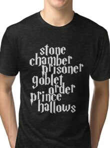 Stone Chamber Prisoner Goblet Order Prince Hallows #White Version Tri-blend T-Shirt
