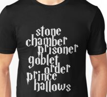 Stone Chamber Prisoner Goblet Order Prince Hallows #White Version Unisex T-Shirt