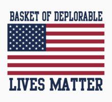 Patriotic Deplorable Lives Matter 2016 Baby Tee
