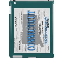 Aged Connecticut State Pride Map iPad Case/Skin
