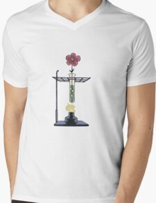 Bunsen Burner Flower Pot Mens V-Neck T-Shirt