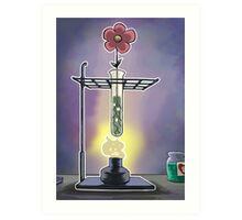 Bunsen Burner Flower Pot Art Print