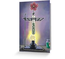 Bunsen Burner Flower Pot Greeting Card