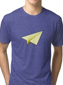 Paper Airplane 10 Tri-blend T-Shirt