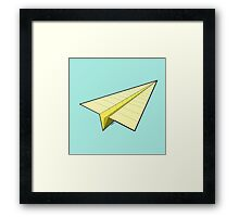 Paper Airplane 10 Framed Print