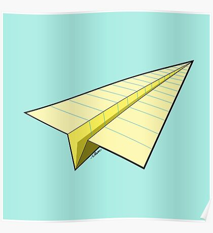 Paper Airplane 10 Poster
