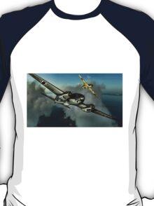 Hurricane / HE 111 World War 2 Art - Digital Painting T-Shirt