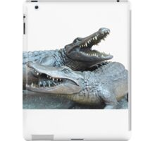 Dueling Gators Transparent For Customization iPad Case/Skin