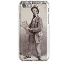 Performing Arts Posters John T Raymond as the insurance agent in Bartley Campbells comedy Risks 0463 iPhone Case/Skin