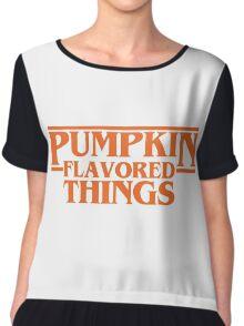 Pumpkin Flavored Things Chiffon Top